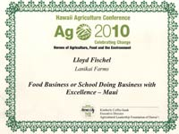 Lanikai Farms Ag 2010 Award
